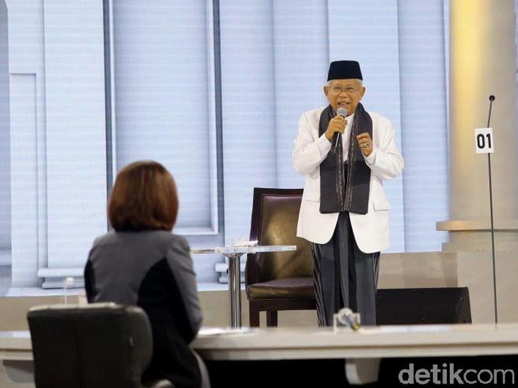 Debat Lawan Sandi, Maruf Amin Singgung Soal Unicorn