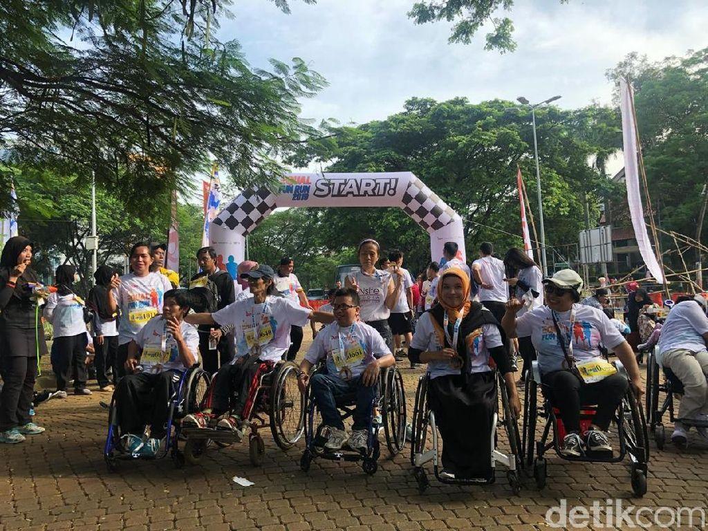 Serunya Lari Bareng Penyandang Disabilitas di Equal Fun Run 2019
