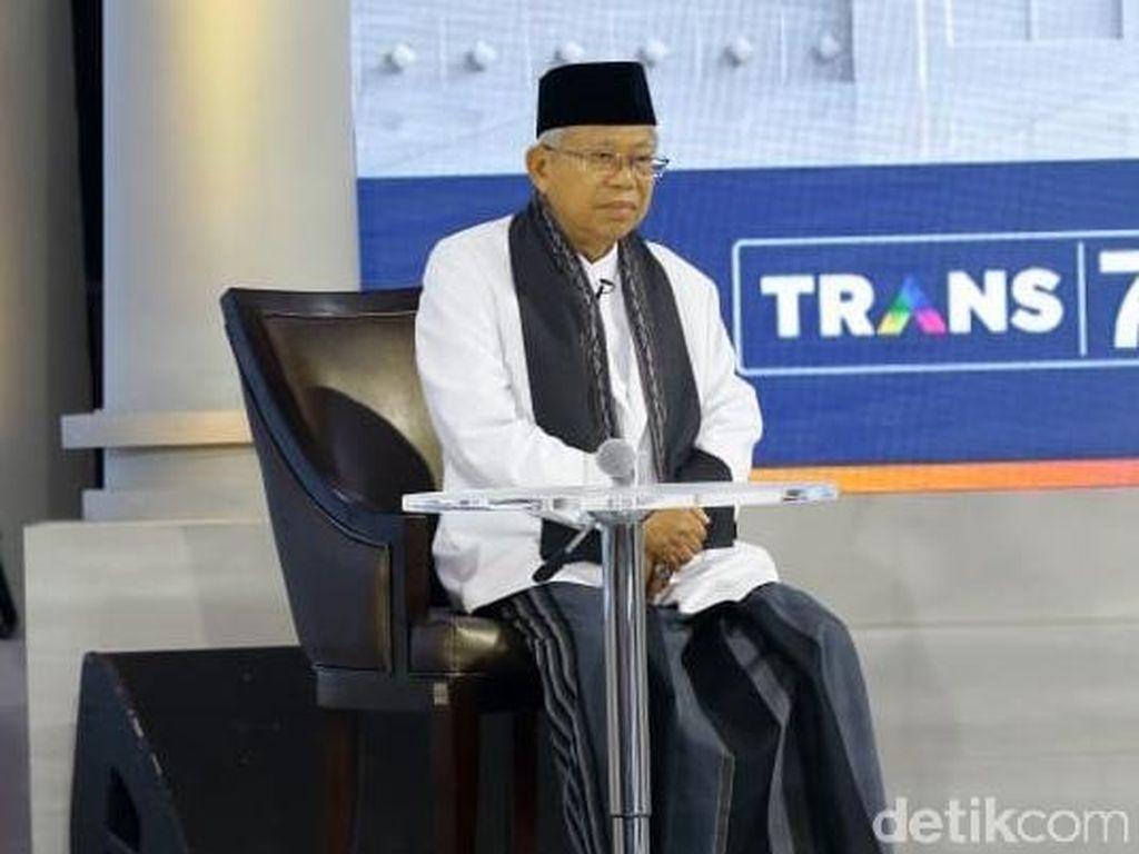 Pamer 3 Kartu Saat Debat, Maruf Amin: La Tahzan, Negara Telah Hadir