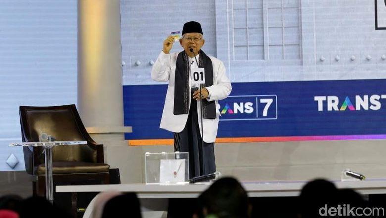 Maruf Amin Mengejutkan, Dinilai 1-0 Unggul Dibanding Sandiaga