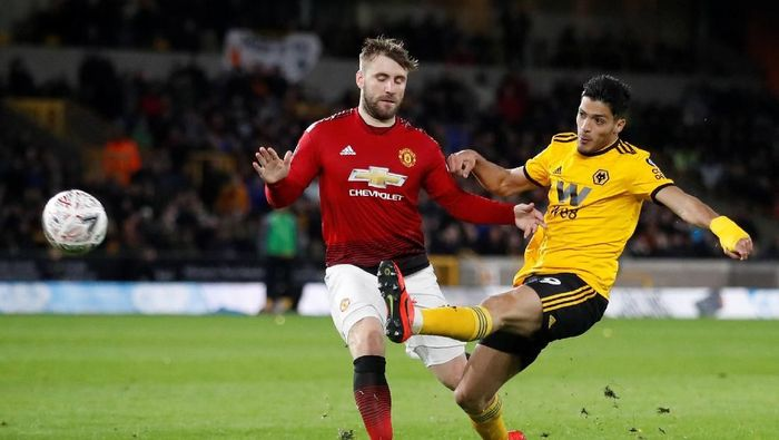 Wolverhampton mengalahkan Manchester United 2-1 di ajang PIala FA (Reuters/Carl Recine)