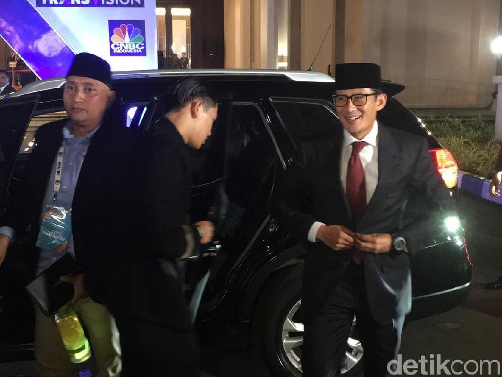 Tiba di Lokasi Debat, Sandiaga Ungkap Prabowo Tak Datang karena Karcis Habis