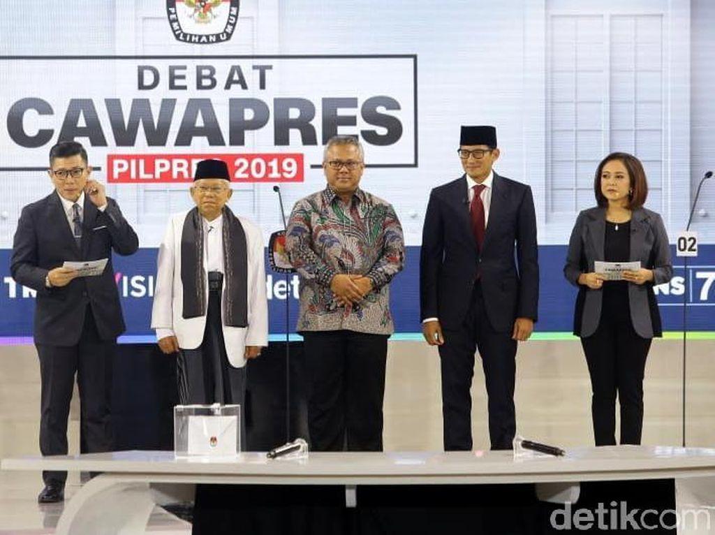BPN Sindir Maruf Amin Bawa Sontekan, TKN Sebut Sandi Pakai Gadget