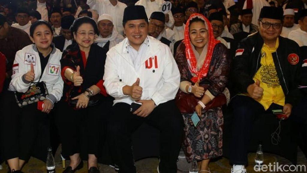Megawati Hingga Erick Thohir Kompak Salam Jempol