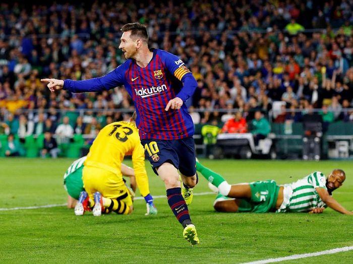 Pemain Barcelona, Lionel Messi. (Foto: Marcelo del Pozo/Reuters)