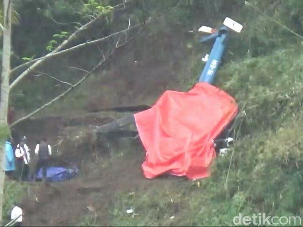 Evakuasi Bangkai Helikopter di Tasimalaya Tunggu Tim Asuransi dari Singapura