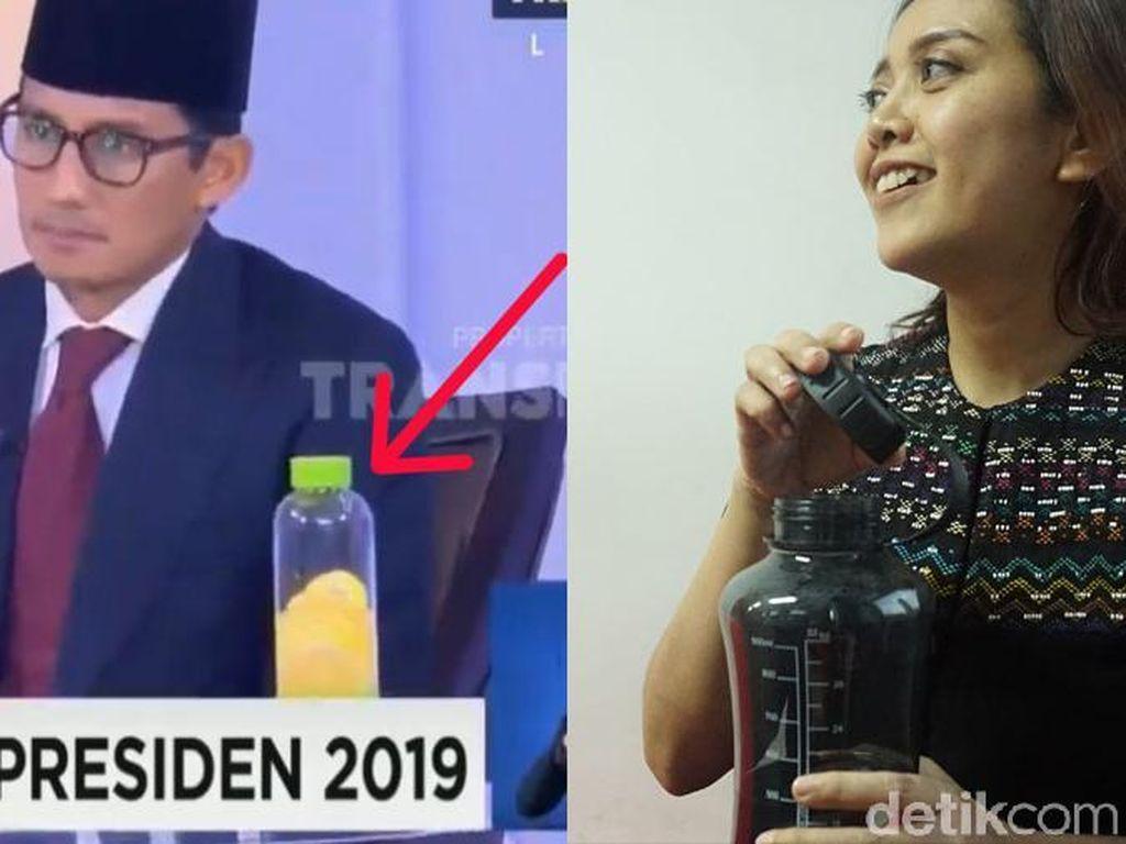 Infused Water Sandiaga Uno Vs Botol Minum Putri Ayuningtyas