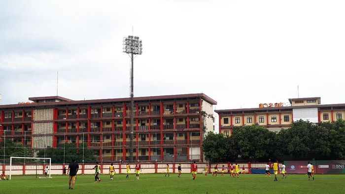 Bhayangkara FC mulai latihan lagi usai libur tiga hari. (Foto: Mercy Raya)