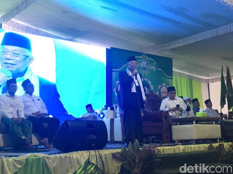 Maruf Amin Bekali Santri di Jombang Prinsip Hadapi 10 Years Challenge