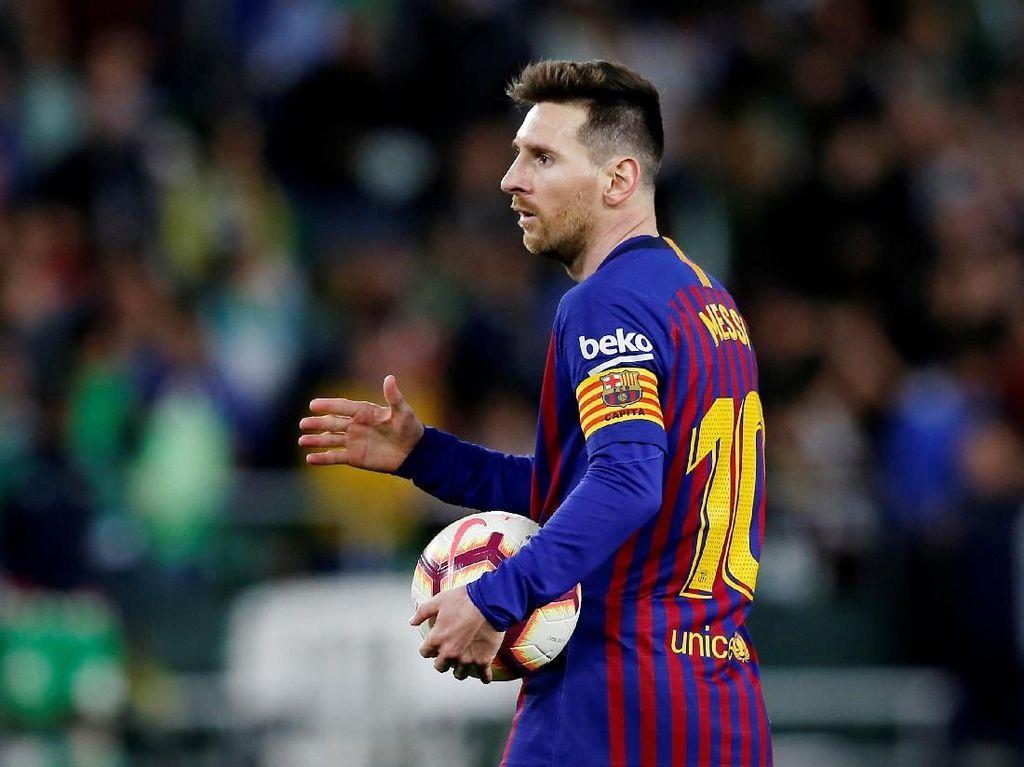 Sempat Cedera di Timnas, Messi Sudah Tersenyum Lagi di Barcelona