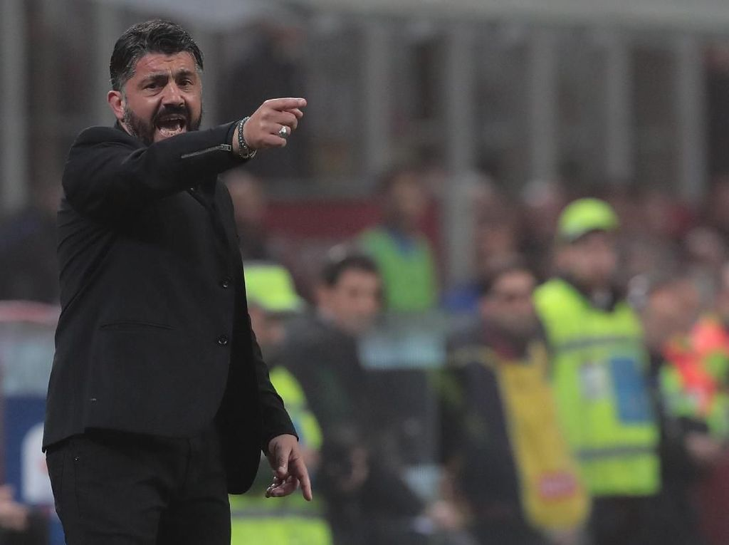 Kans Milan ke Liga Champions Kecil, Gattuso Enggan Kibarkan Bendera Putih