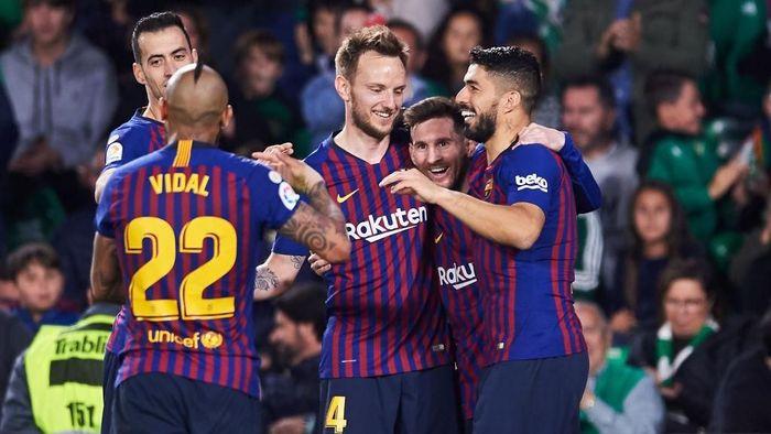 Barcelona menang besar atas Real Betis di LaLiga akhir pekan kemarin. (Foto: Aitor Alcalde / Getty Images)