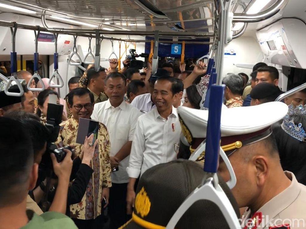 Jokowi: MRT Jakarta Budaya Baru, Saya Senang Warga Antusias