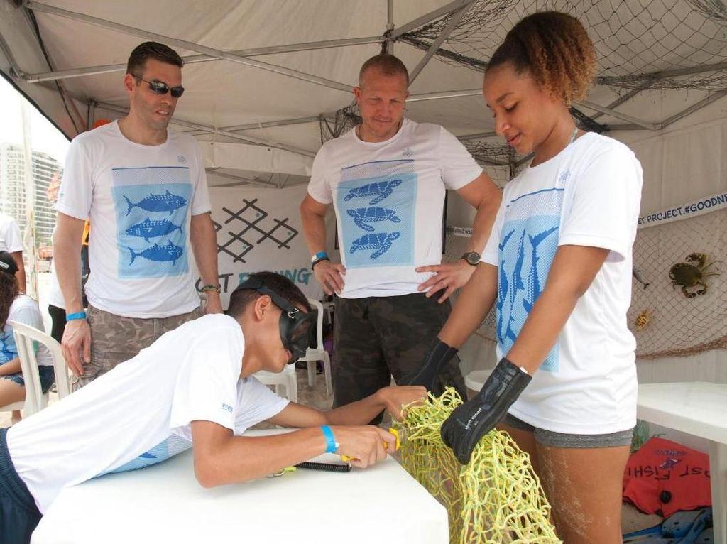 Voli Dunia Kampanyekan Daur Ulang Jaring Ikan Jadi Net
