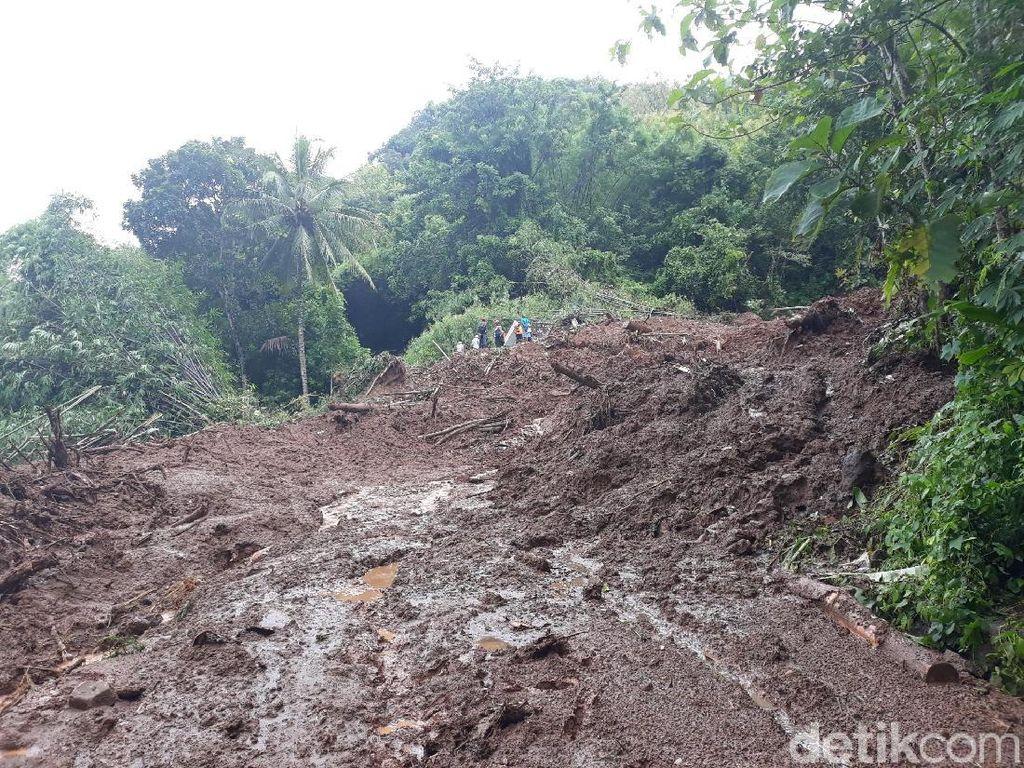 Sempat Terkendala Hujan, Pencarian 2 Korban Longsor di Bantul Dilanjutkan
