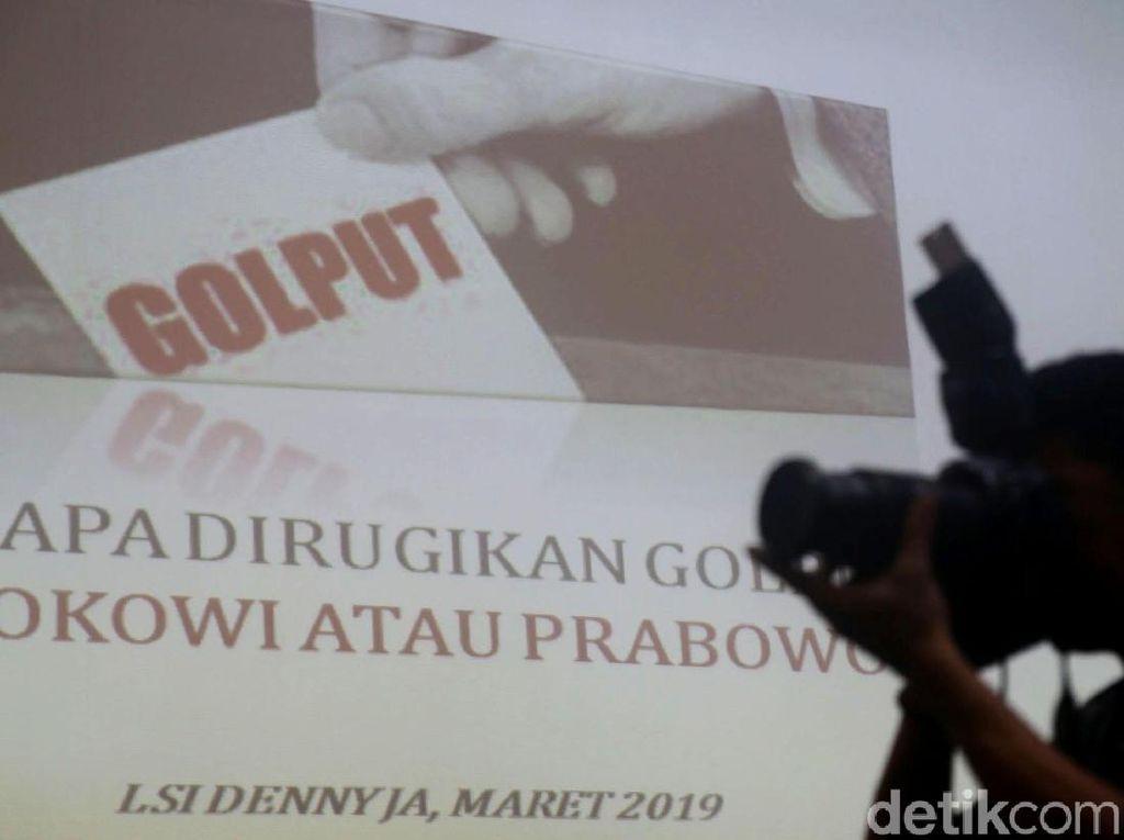 Jokowi atau Prabowo yang Dirugikan Golput? Begini Hasil Survei LSI Denny JA