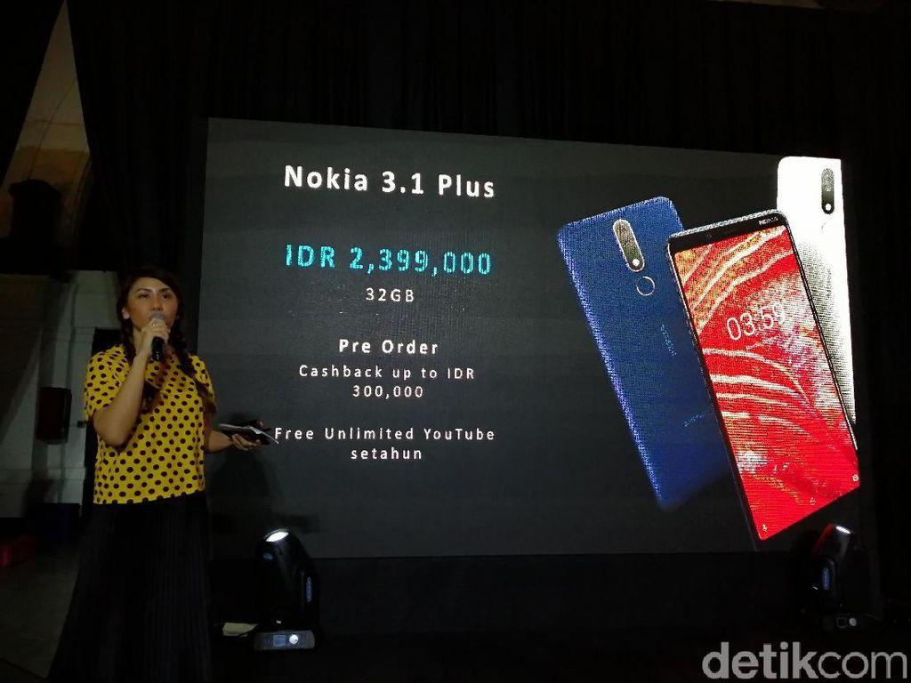 Nokia 3.1 Plus Tiba di Indonesia, Ini Spesifikasi dan Harganya