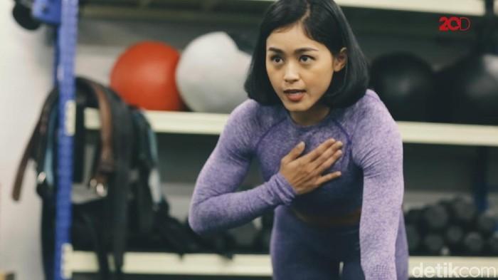 Bugar bareng Nadira Diva, pelatih kebugaran dari Crossfit 6221 (Foto: 20detik)