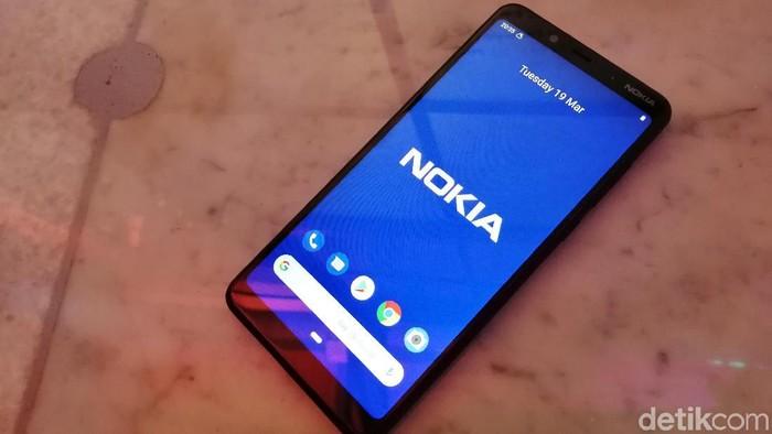 Nokia 3.1 Plus yang baru saja dihadirkan HMD Global di Indonesia. (Foto: Muhamad Imron Rosyadi/detikINET)