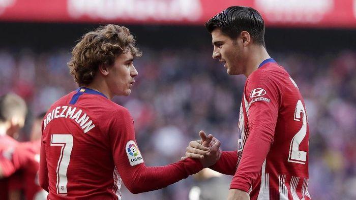 Alvaro Morata mengatakan, mau tak mau keputusan Antoine Griezmann meninggalkan Atletico Madrid mesti tetap dihormati. (Foto: Gonzalo Arroyo Moreno / Getty Images)