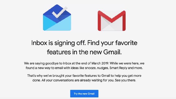 Google bakal matikan Inbox. (Foto: Dok. Google)