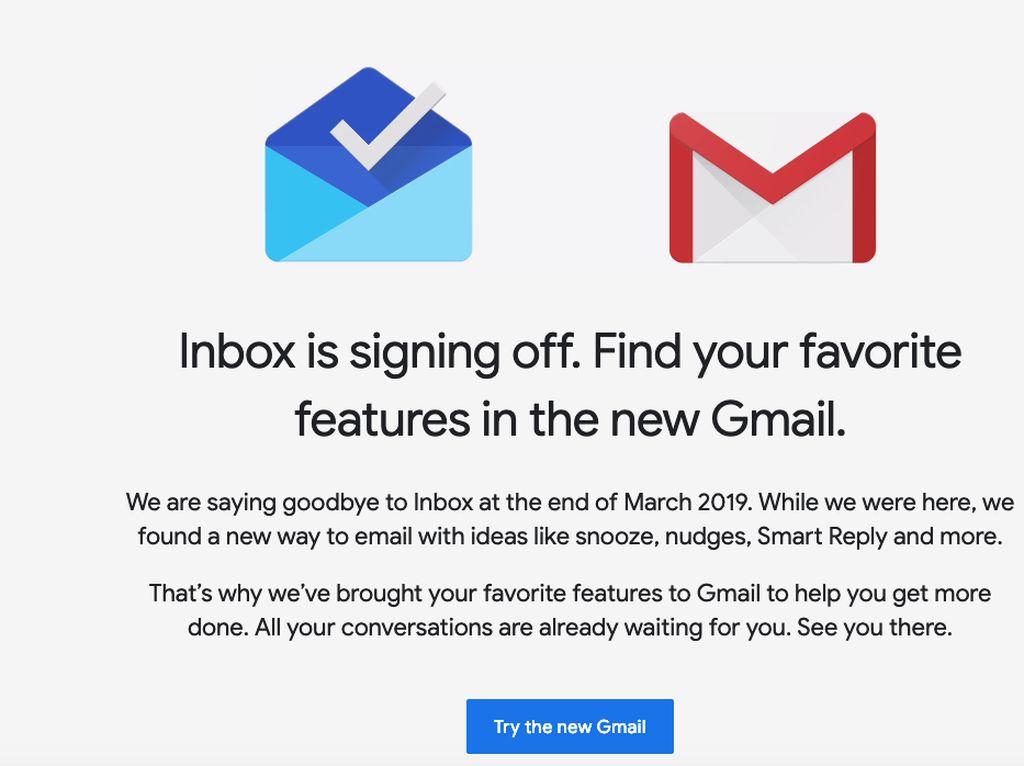 Google Bakal Matikan Inbox