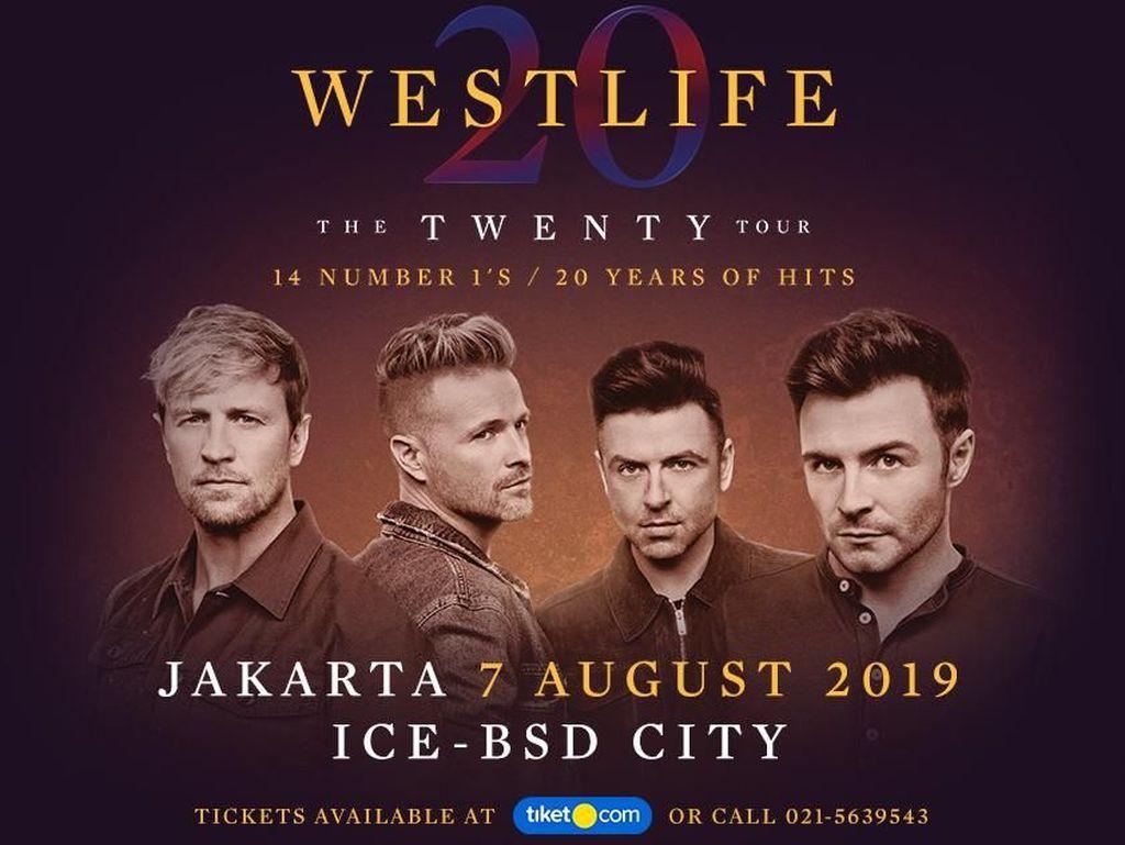Tiket Konser Westlife di Jakarta Dijual Pekan Depan