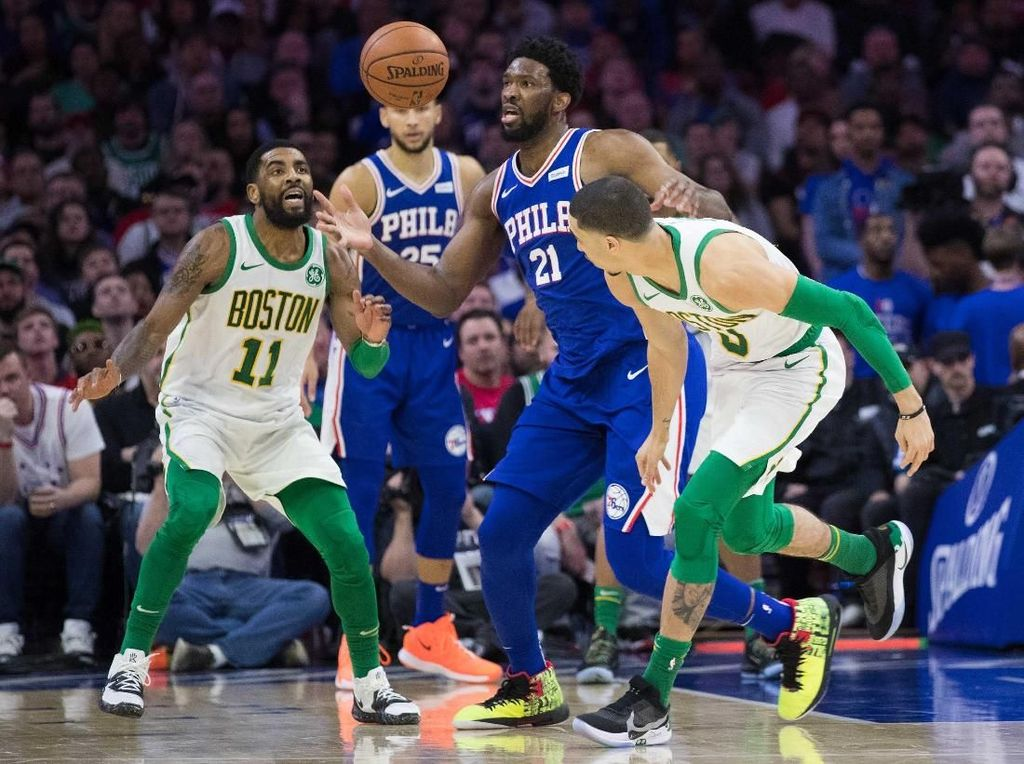 Hasil NBA: Joel Embiid Bawa Sixers Bungkam Celtics
