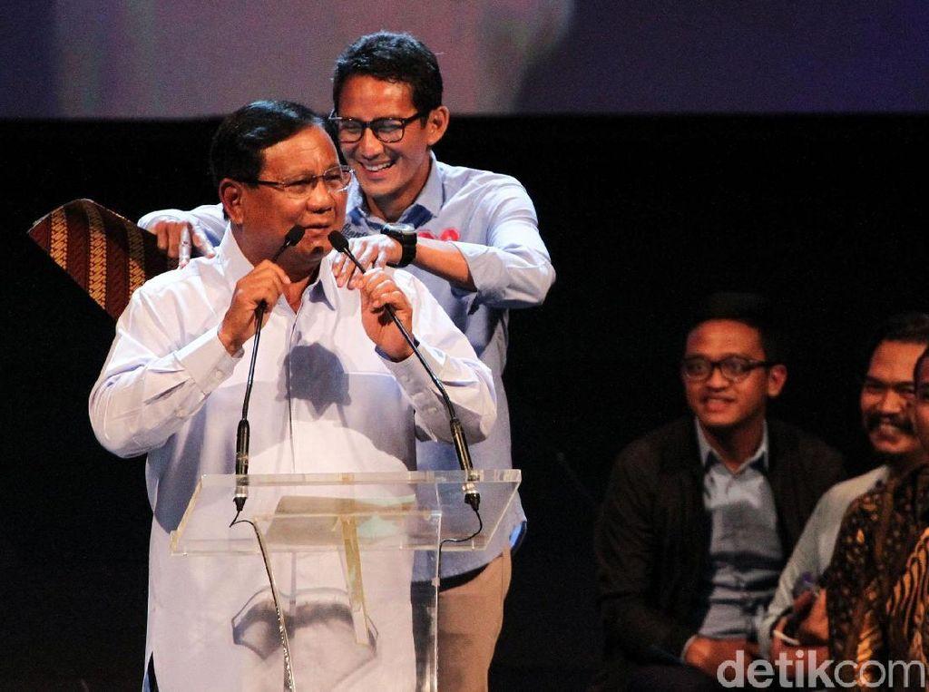 Prabowo-Sandi Jadi Menteri Paling Memuaskan di Survei LSI
