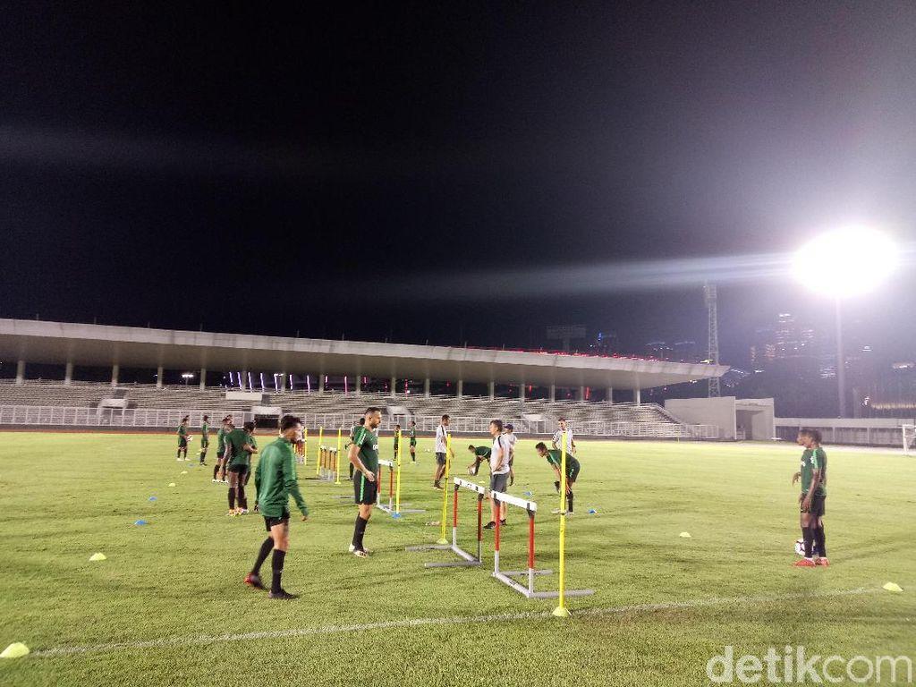 Sebelum Berangkat ke Myanmar, Timnas Latihan Lebih Santai