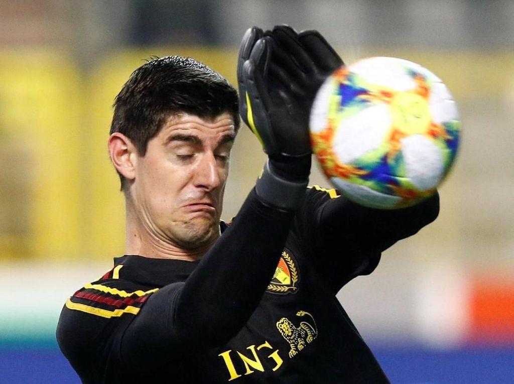Blunder Konyol Courtois dalam Kemenangan Belgia