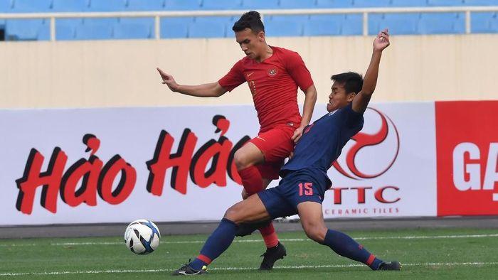 Timnas Indonesia U-23 kalah 0-4 dari Thailand di laga pembuka kualifikasi Piala Asia U-23 2020. (Foto: R. Rekotomo/aww/Antara Foto)