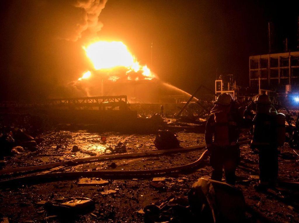 Korban Tewas Ledakan Pabrik di China jadi 62 Orang