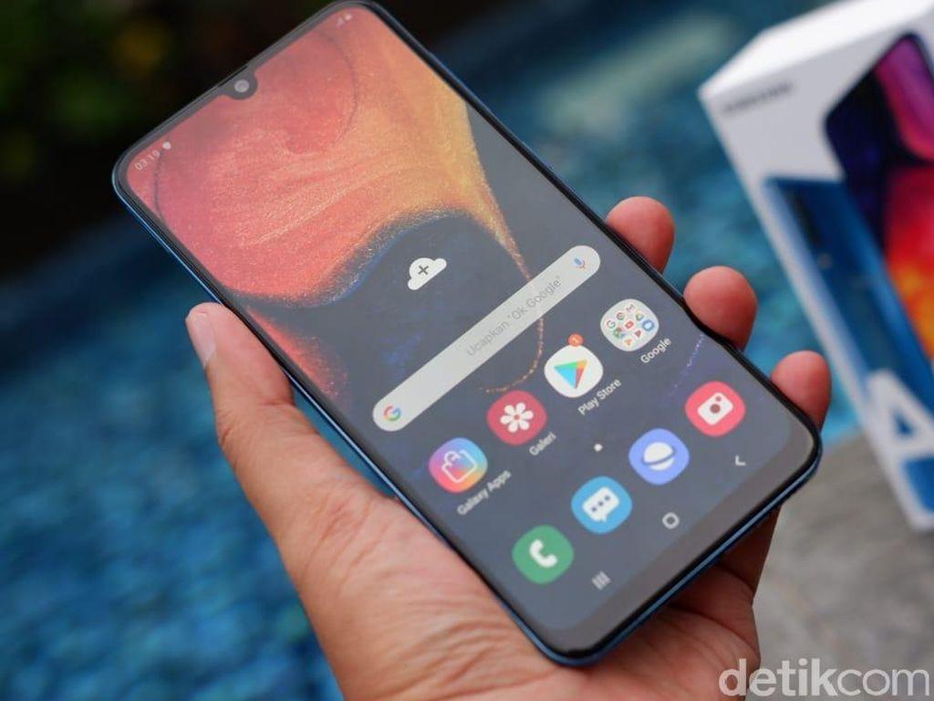 Unboxing! Galaxy A50 dengan 3 Kamera dan Fingerpint Dalam