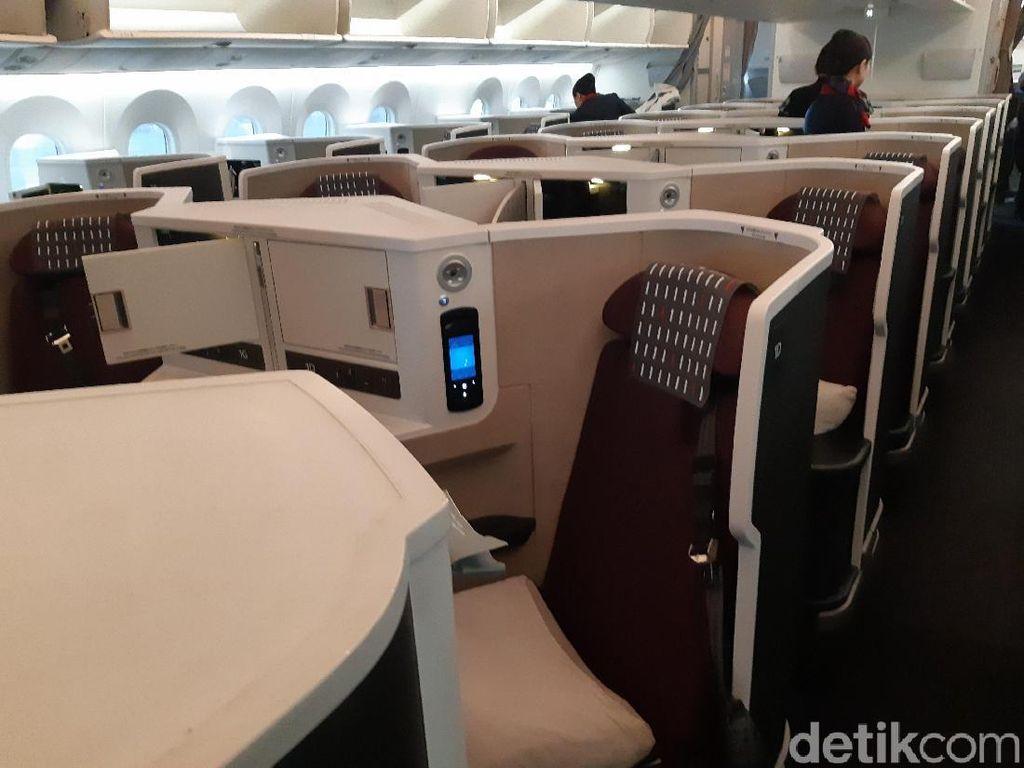 Foto: Kelas Bisnis Japan Airlines yang Nyaman