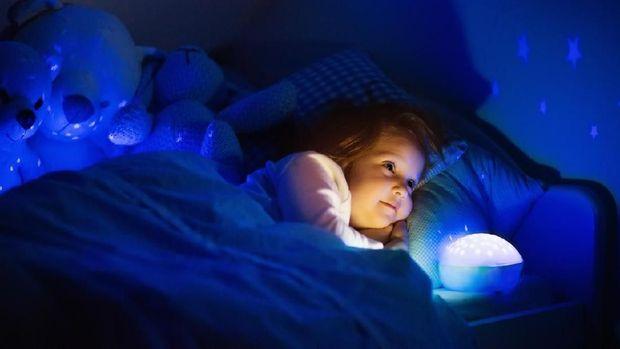 Ilustrasi anak susah tidur