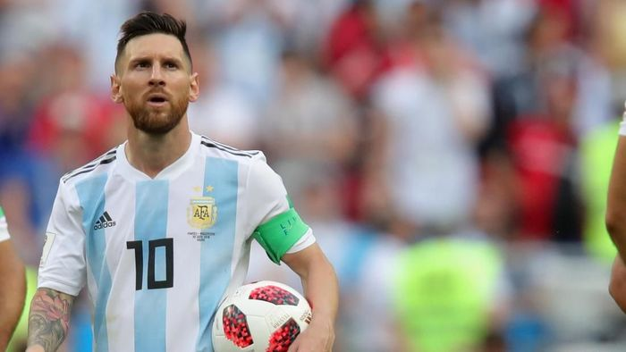 Pemain Timnas Argentina, Lionel Messi. (Foto: Alexander Hassenstein/Getty Images)
