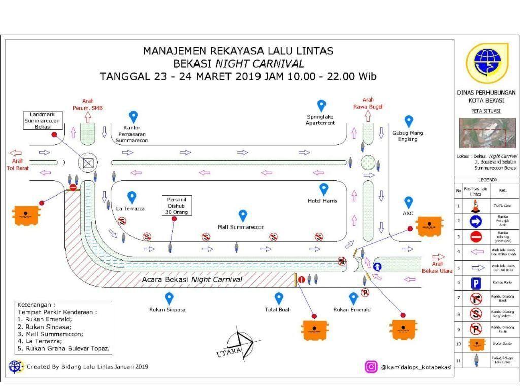 Ada Bekasi Night Carnival, Jl Boulevard Selatan Summarecon Ditutup Besok
