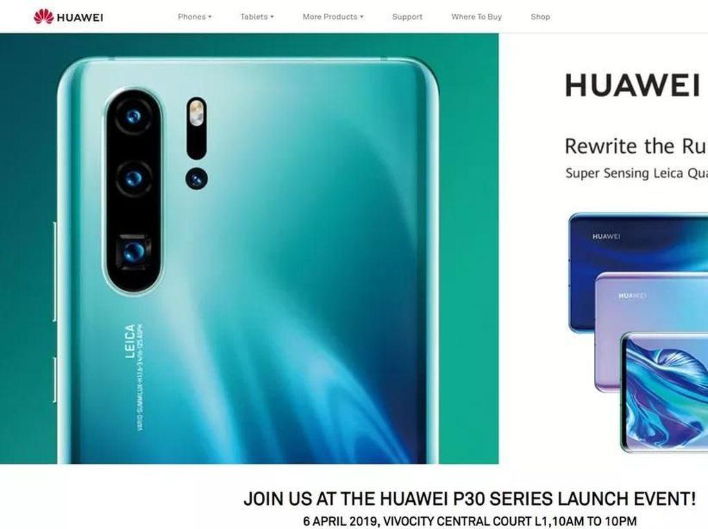 Huawei Bocorkan Wujud dan Spesifikasi P30 Pro