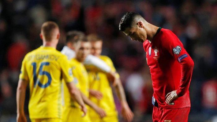 Cristiano Ronaldo gagal bawa Portugal menang (REUTERS/Rafael Marchante)