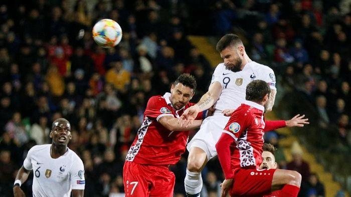 Prancis menang 4-1 atas Moldova di Kualifikasi Piala Eropa 2020 (Foto: Valentyn Ogirenko/Reuters)