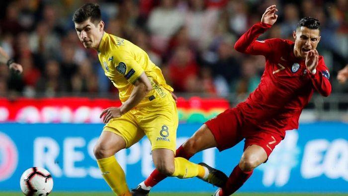 Portugal hanya bermain imbang 0-0 melawan Ukraina di laga perdana Kualifikasi Piala Eropa 2020 (Foto: Rafael Marchante/Reuters)
