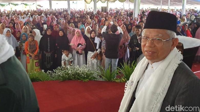 Kampanye Akbar di Banten, Maruf Amin: 15 Ribu Tenda Diisi Ibu-Ibu
