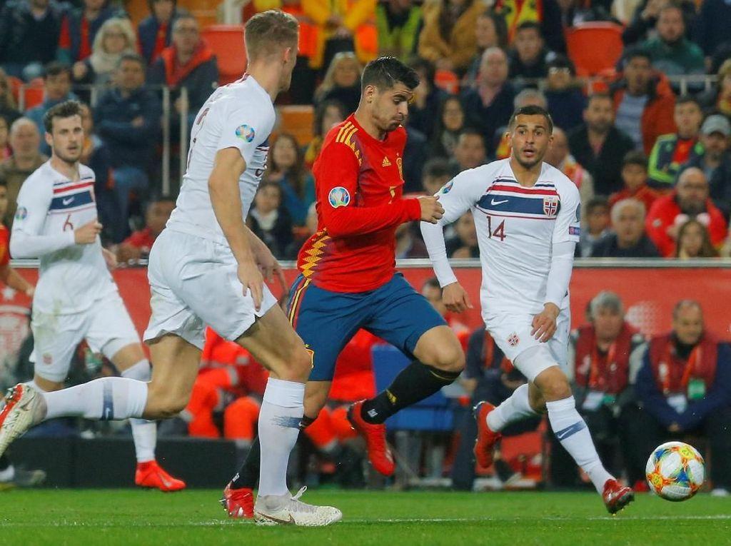 Kualifikasi Piala Eropa: Spanyol Menang Tipis atas Norwegia