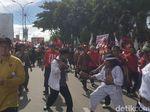 Jokowi Dikawal Debus Banten di Karnaval Kampanye Terbuka