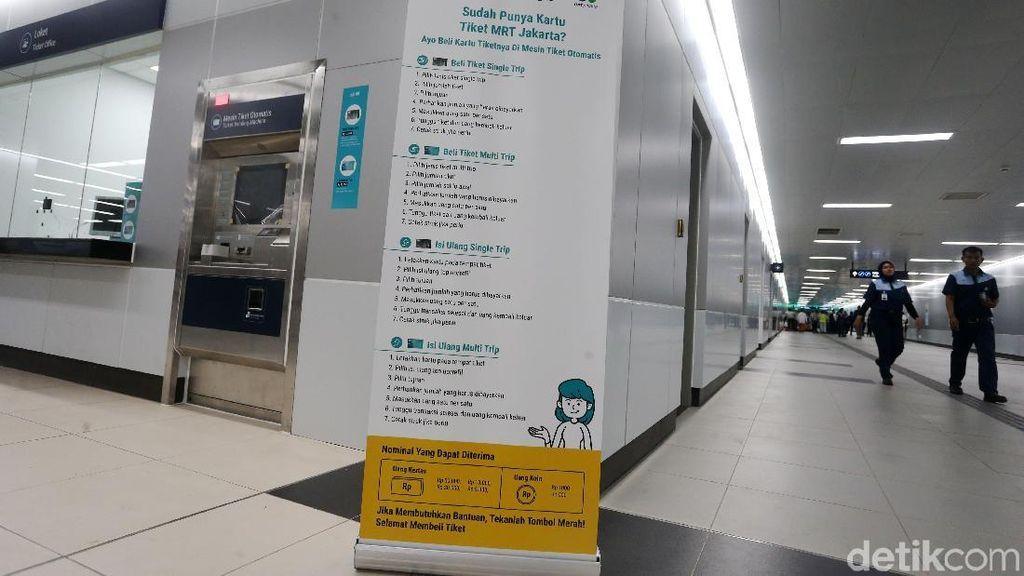Ingat! Mau Naik MRT Harus Beli Kartu