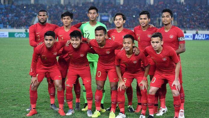 Timnas Indonesia U-23 imbang 0-0 dengan Vietnam di babak pertama Kualifikasi Piala Asia U-23 Grup K. (R. Rekotomo/Antara)