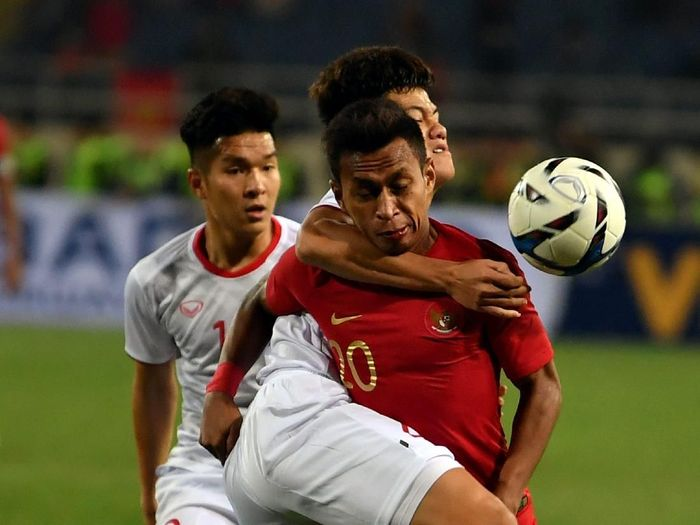TImnas Indonesia U-23 di Kualifikasi Piala Asia 2020. (Foto: R. Rekotomo/Antara)