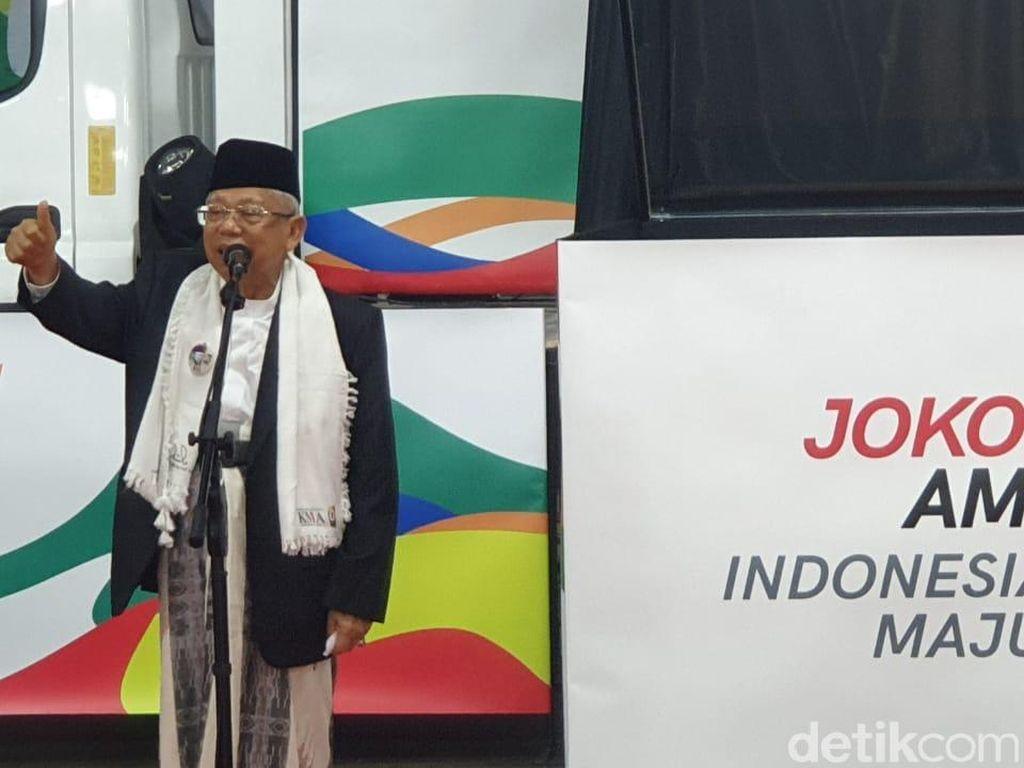 Maruf Amin: Yang Percaya Jokowi Larang Azan Cuma Orang Beloon