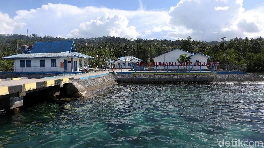 Keren! Ini Lho Pelabuhan Jojame di Halmahera Selatan